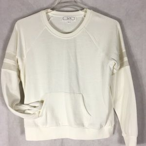 Hippie rose ivory sweatshirt size large